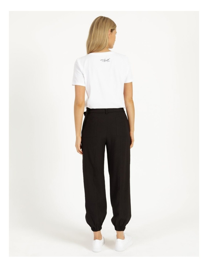 Jogger Pant With Belt image 4