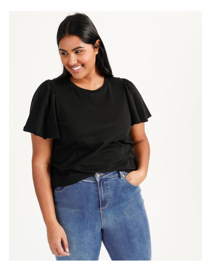 Onella Short Sleeve O-Neck Top Black image 1