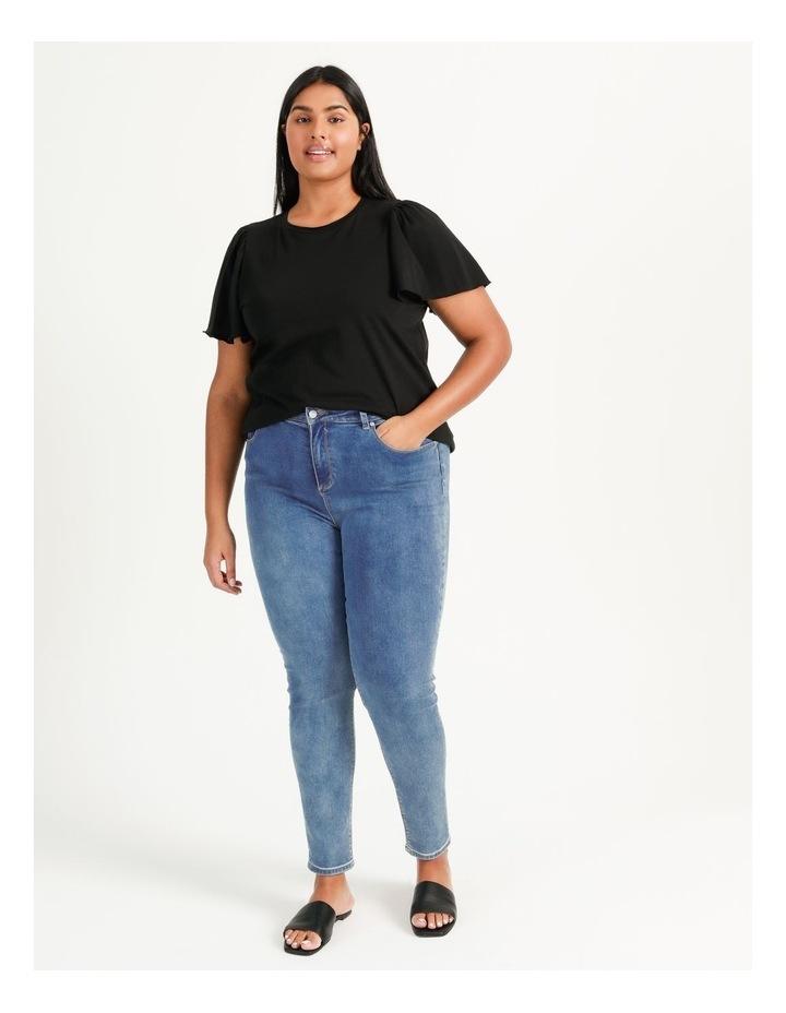 Onella Short Sleeve O-Neck Top Black image 3