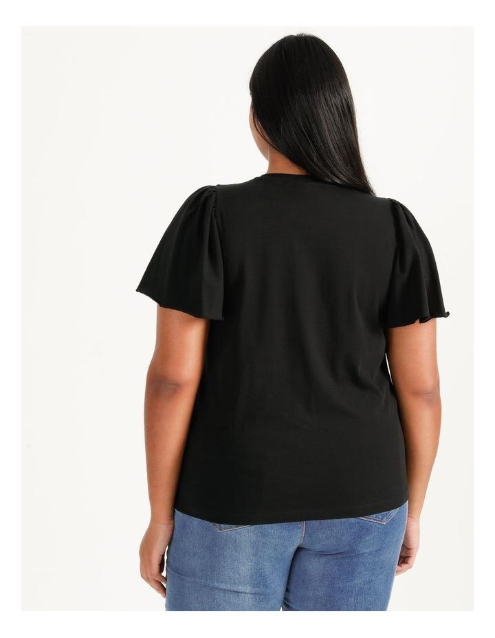 Onella Short Sleeve O-Neck Top Black image 5