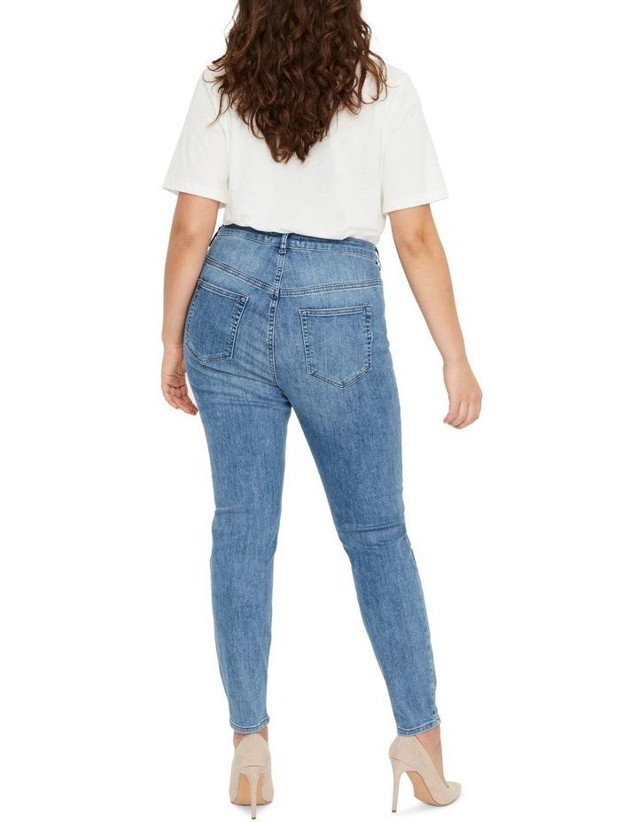 Loraanne Destroy Medium Blue Denim Slim Jean image 2