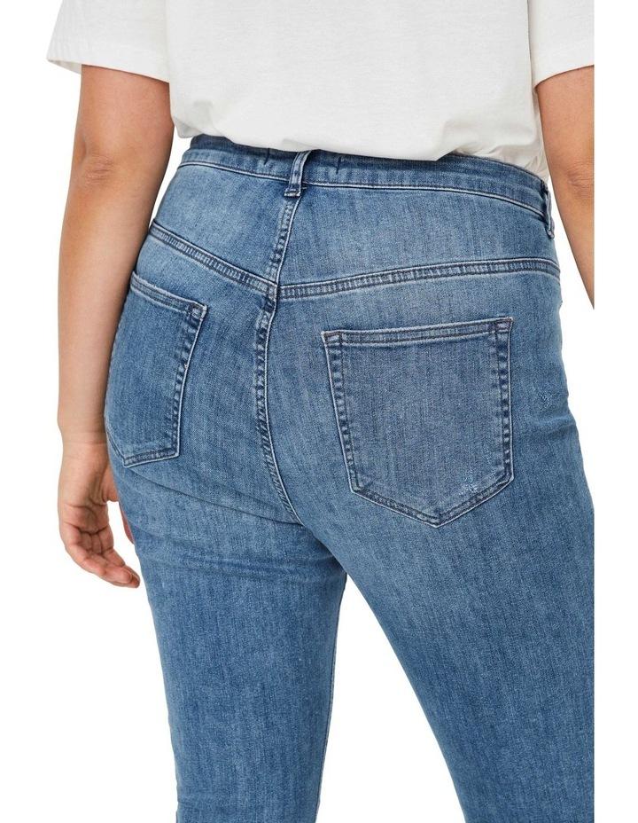 Loraanne Destroy Medium Blue Denim Slim Jean image 4