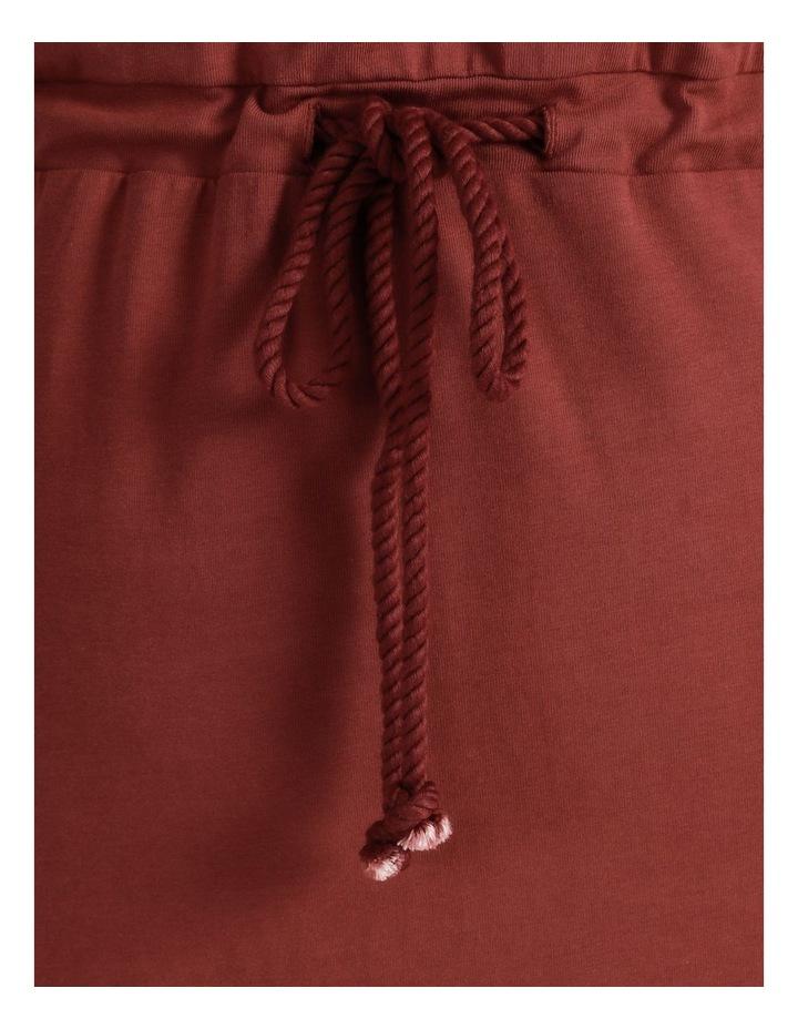 Cot Short Sleeve Below Knee Dress Sable image 7