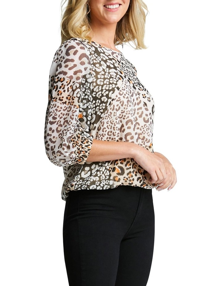 Leopard Splice Top image 2