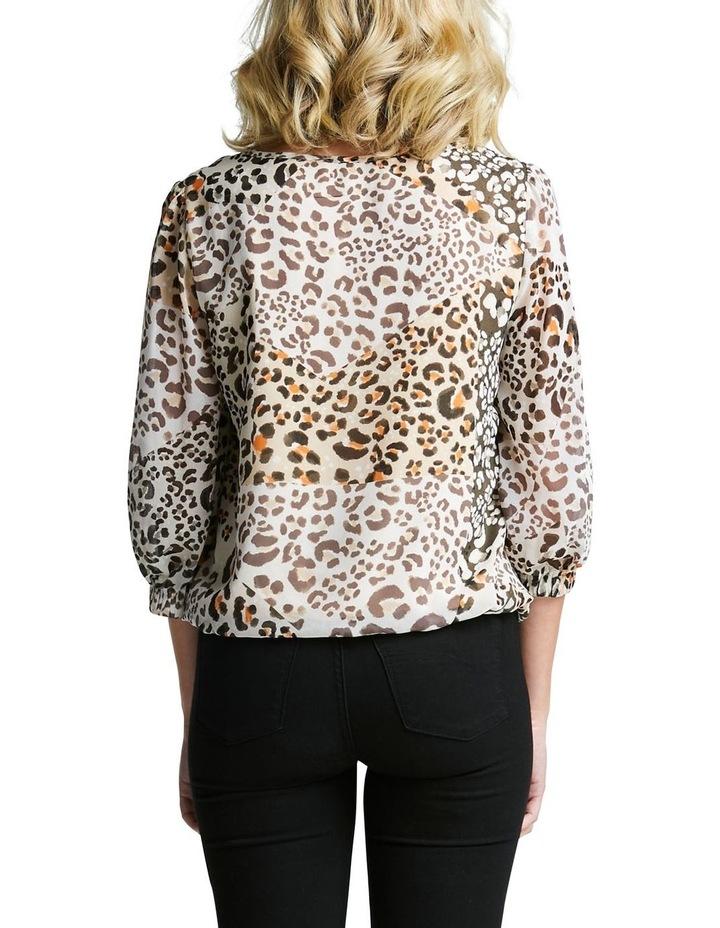 Leopard Splice Top image 3