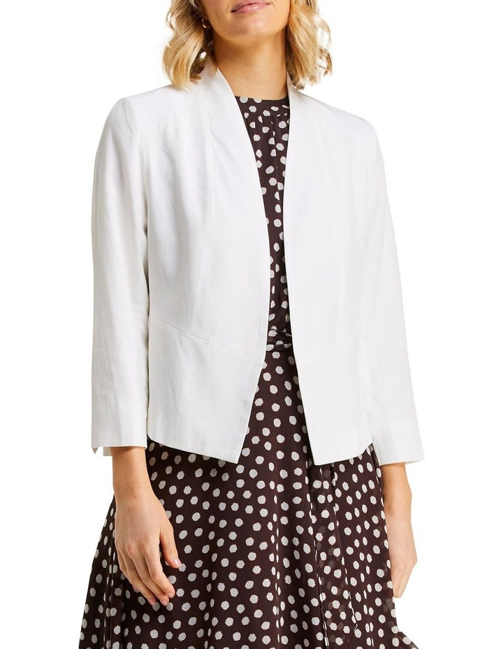 Eve Milk Linen Blazer image 1