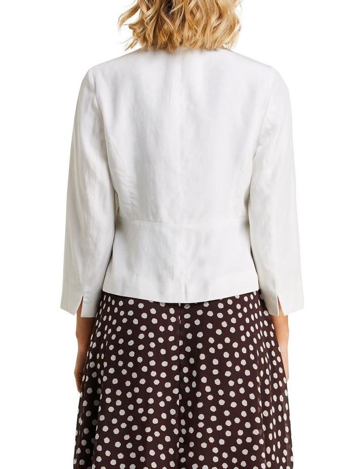 Eve Milk Linen Blazer image 2