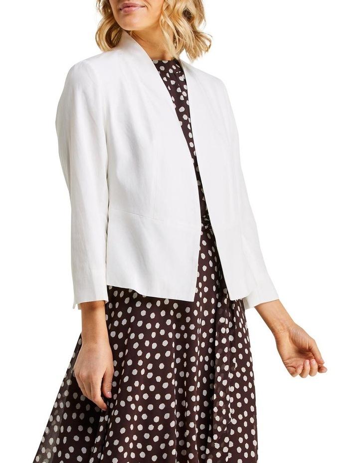 Eve Milk Linen Blazer image 3