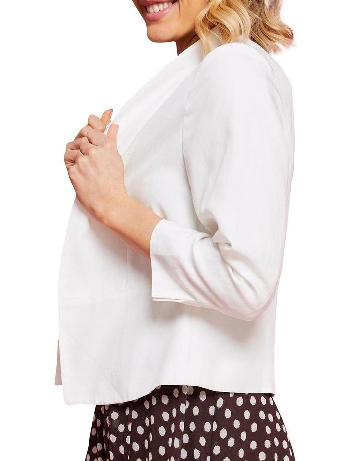 Eve Milk Linen Blazer image 4