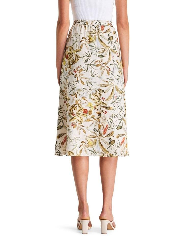 Daintree Forest Multicoloured Linen Midi Skirt image 2