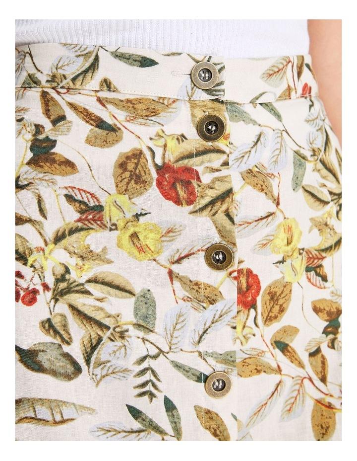 Daintree Forest Multicoloured Linen Midi Skirt image 5