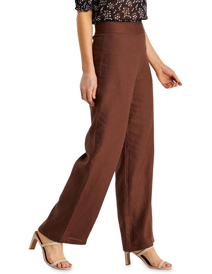 Jena Chocolate Linen Wide Leg Pants image 3
