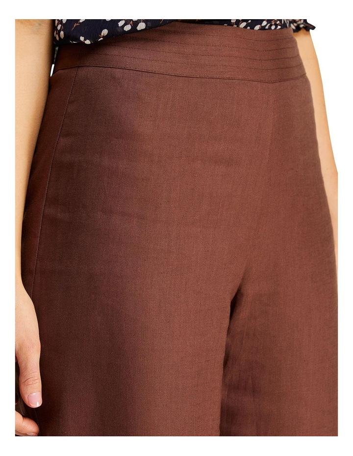 Jena Chocolate Linen Wide Leg Pants image 5