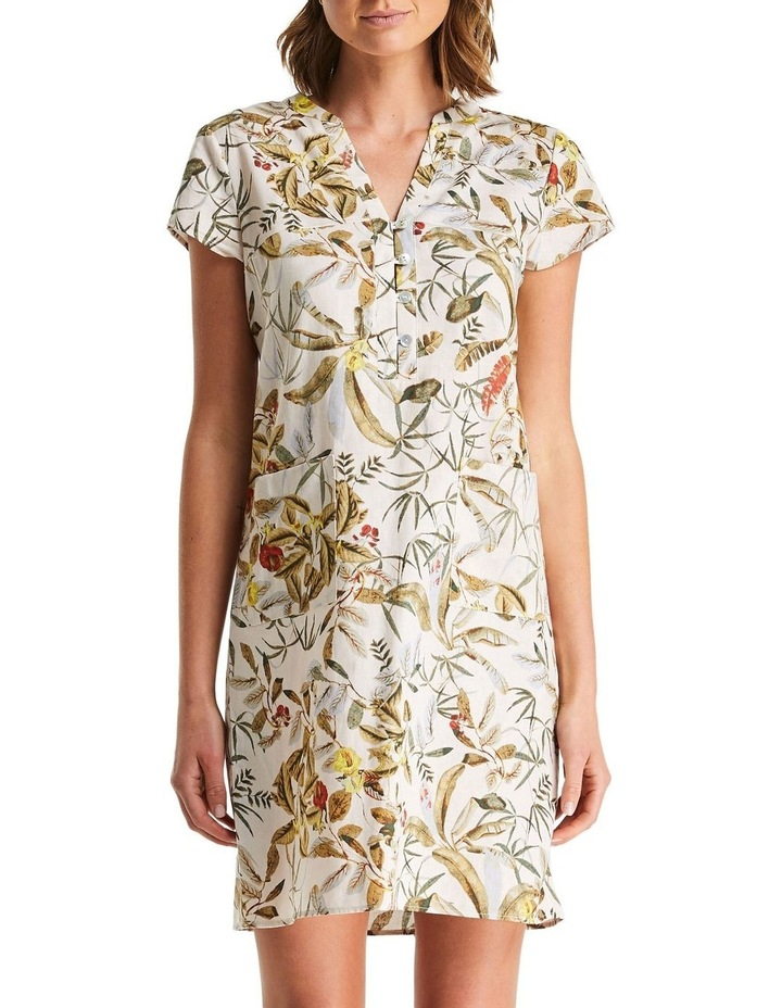 Daintree Forest White Shift Dress image 1
