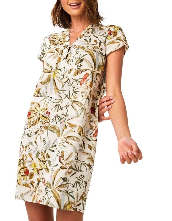 Daintree Forest White Shift Dress image 4