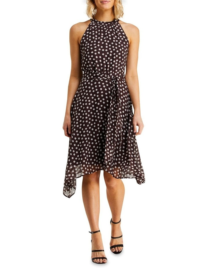 Fuzzy Spot Print Halter Dress Multicolour image 1