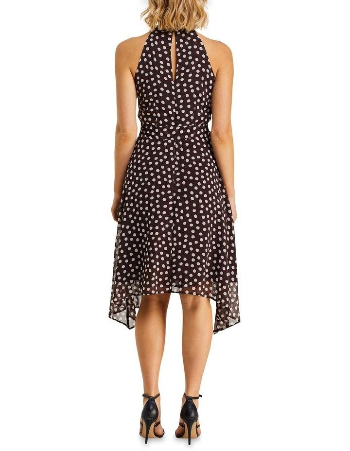 Fuzzy Spot Print Halter Dress Multicolour image 2
