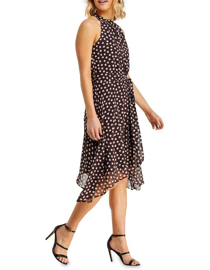 Fuzzy Spot Print Halter Dress Multicolour image 3