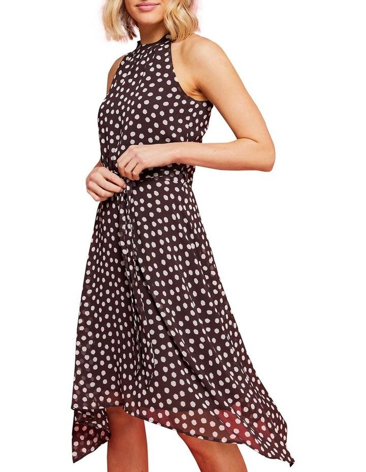 Fuzzy Spot Print Halter Dress Multicolour image 4