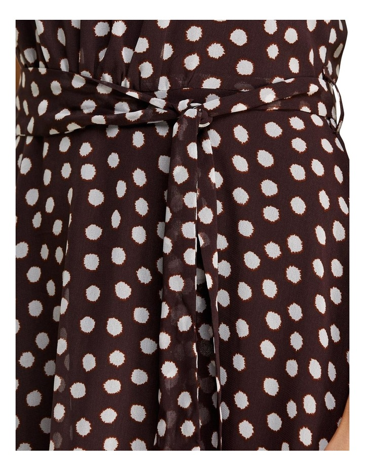 Fuzzy Spot Print Halter Dress Multicolour image 5