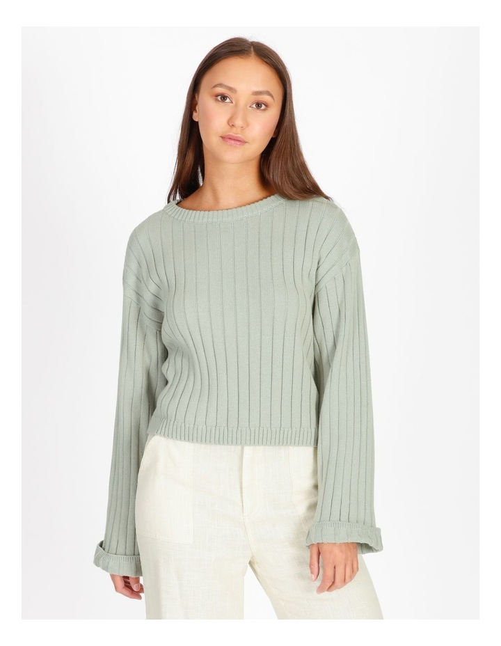Wide Neck Relaxed Knit image 1