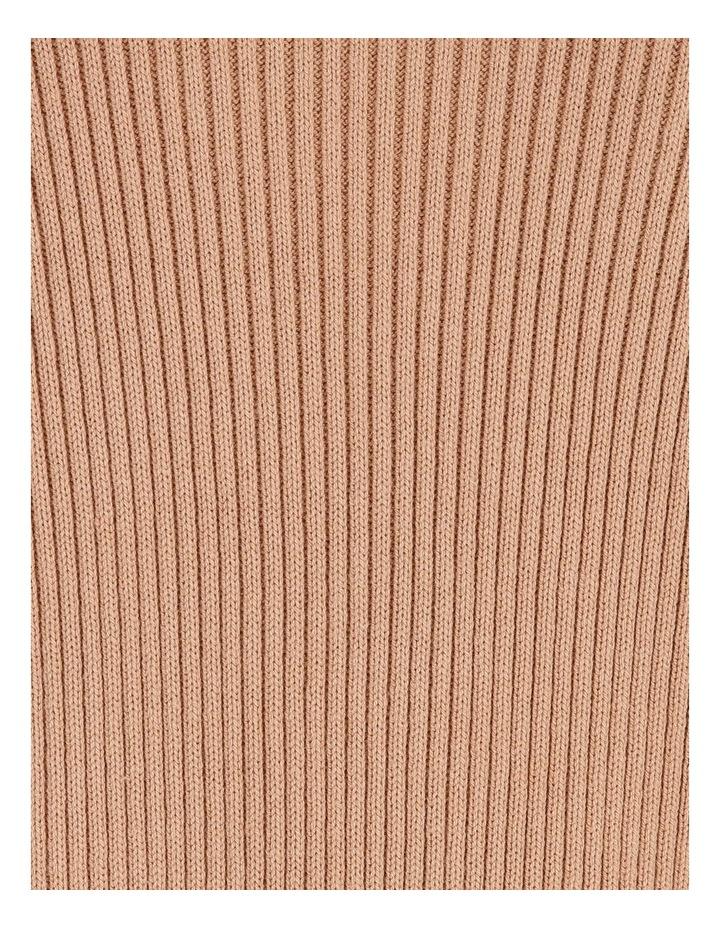 Longline Rib Oversized Cardigan - Camel image 6