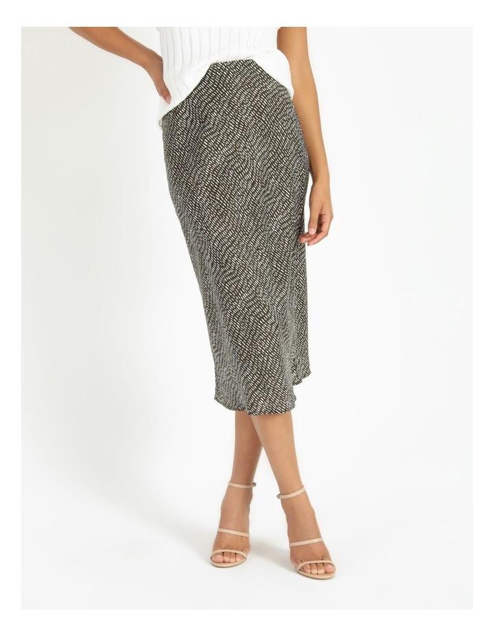 Slip Skirt - Olive Dash Print image 1