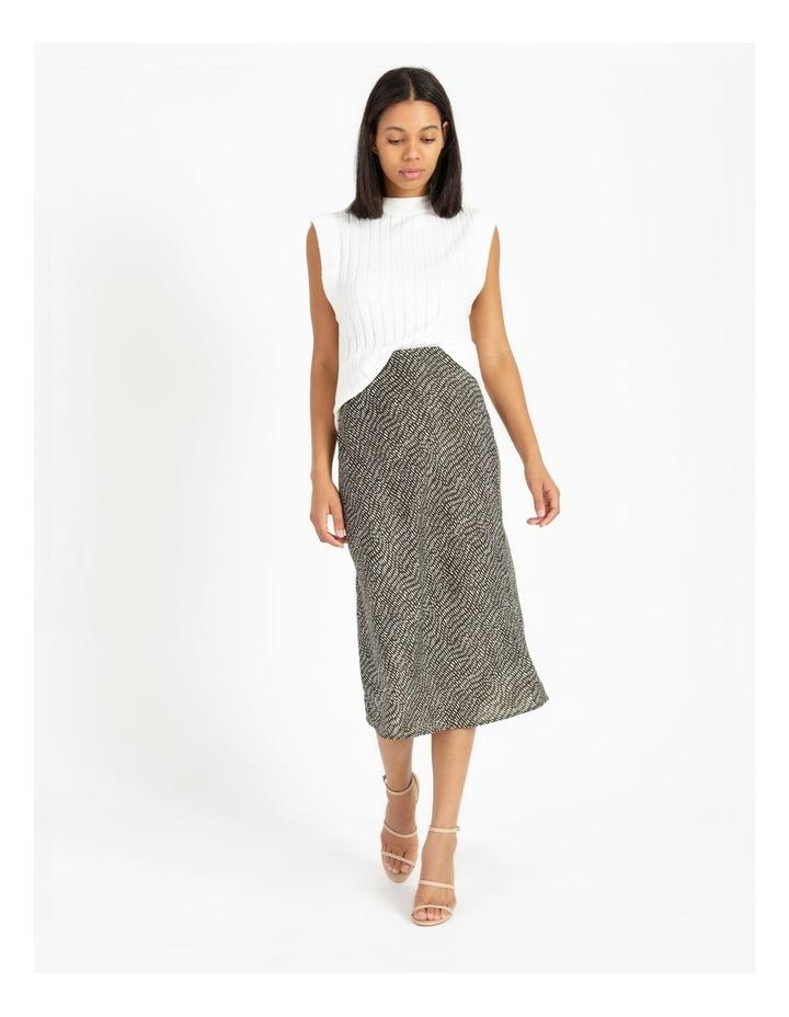 Slip Skirt - Olive Dash Print image 3
