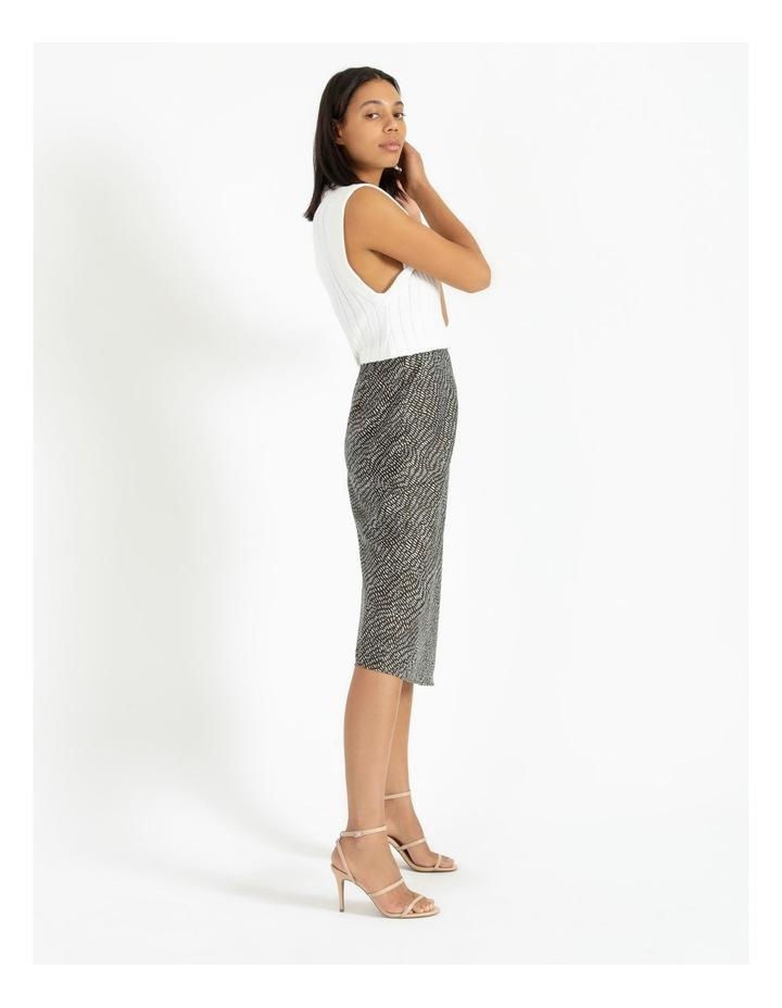 Slip Skirt - Olive Dash Print image 4