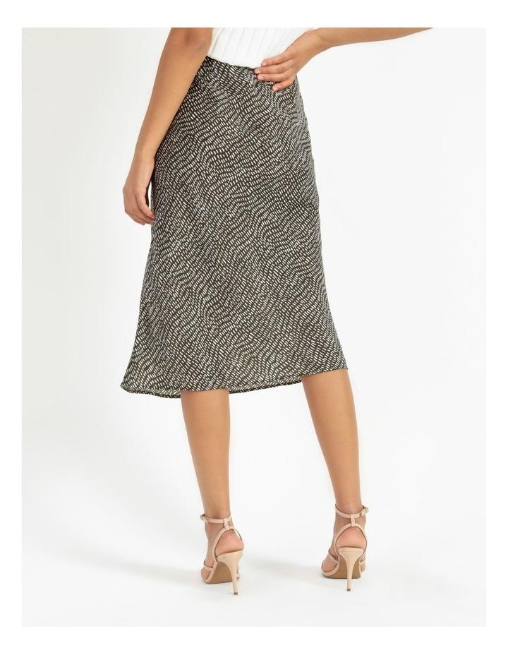 Slip Skirt - Olive Dash Print image 5