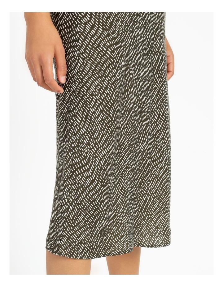 Slip Skirt - Olive Dash Print image 6