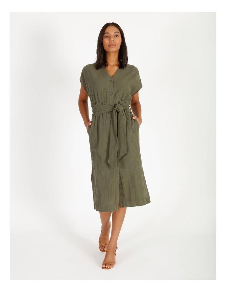 Crinkle Button Thru Dress image 1