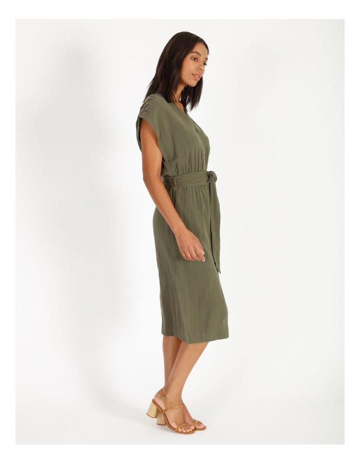 Crinkle Button Thru Dress image 2