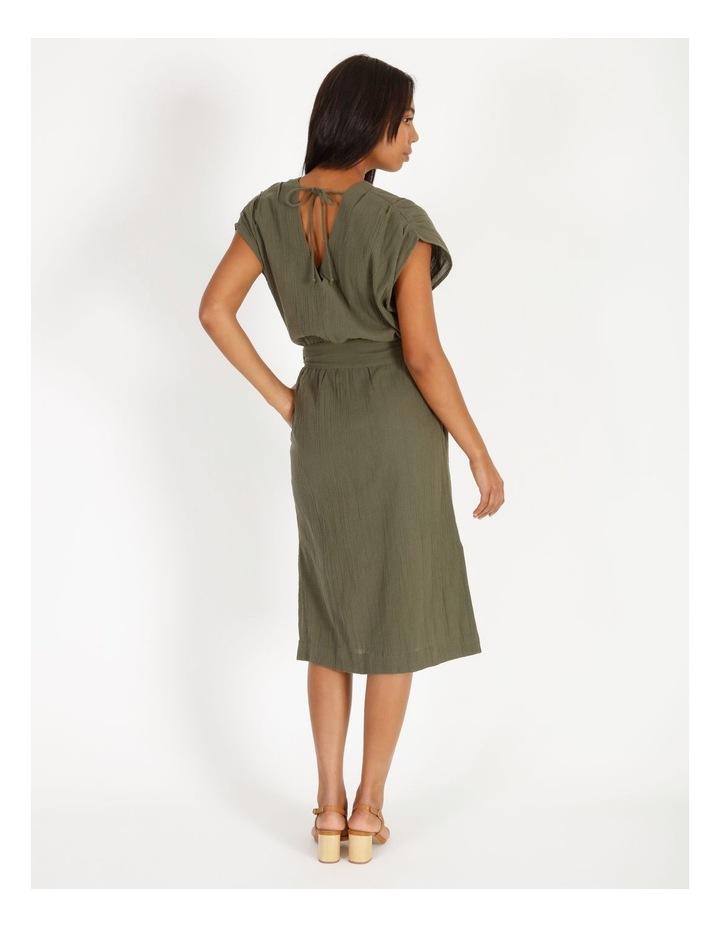 Crinkle Button Thru Dress image 3