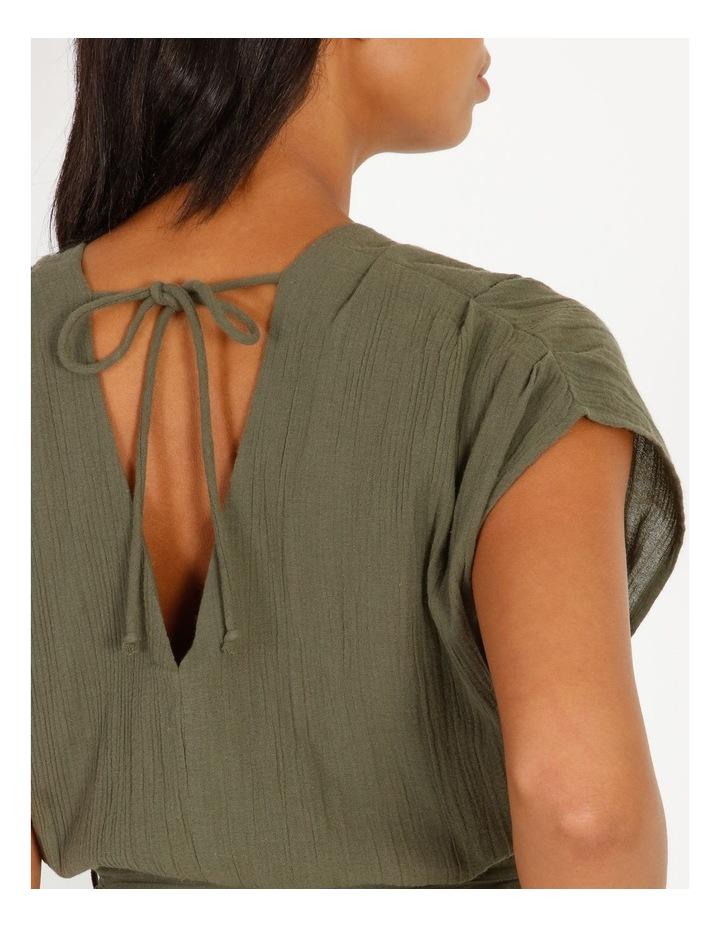Crinkle Button Thru Dress image 4