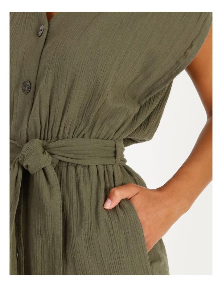 Crinkle Button Thru Dress image 5