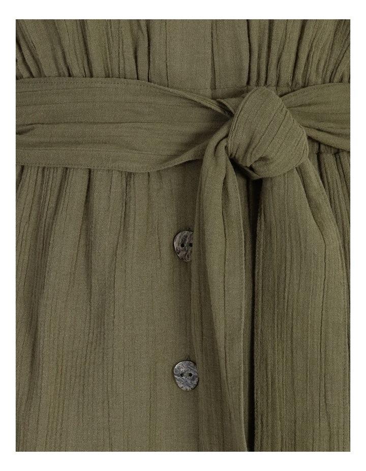 Crinkle Button Thru Dress image 6