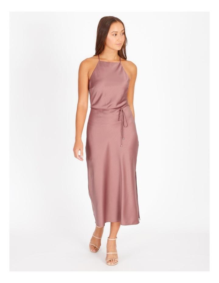 Halter Neck Cowl Back Slip Dress image 1