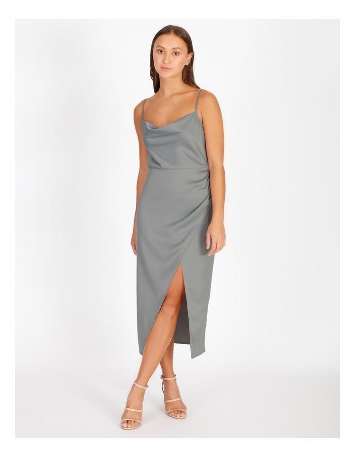 Gather Wrap Slip Dress image 1