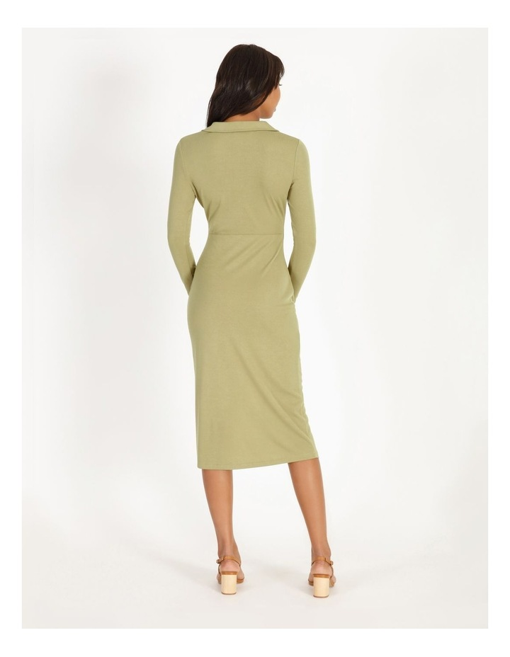Ruched Bodice Midi Shirt Dress image 3