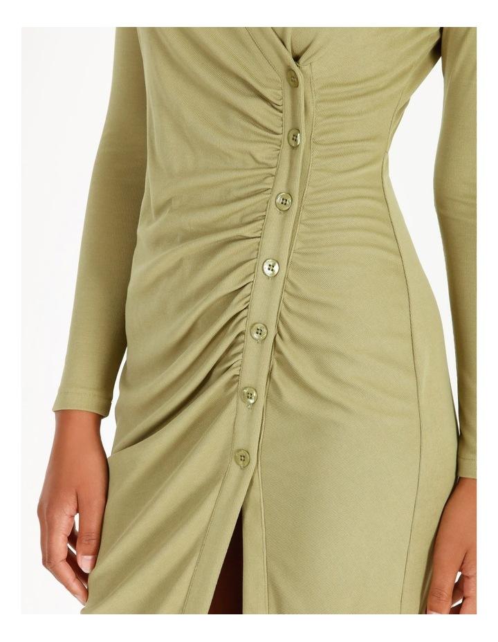 Ruched Bodice Midi Shirt Dress image 5