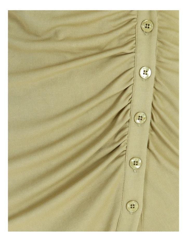 Ruched Bodice Midi Shirt Dress image 6