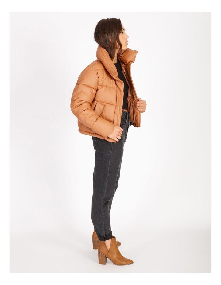 Vegan Leather Puffer Jacket image 2