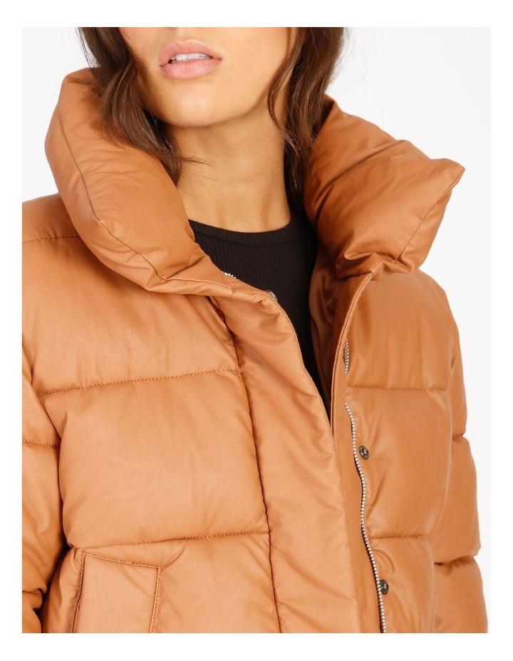 Vegan Leather Puffer Jacket image 4