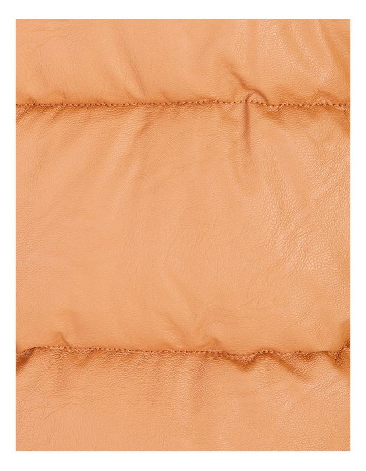 Vegan Leather Puffer Jacket image 5
