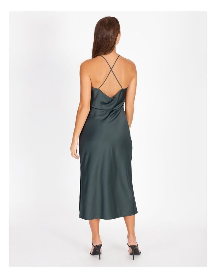 Halter Cowl Neck Dress image 3