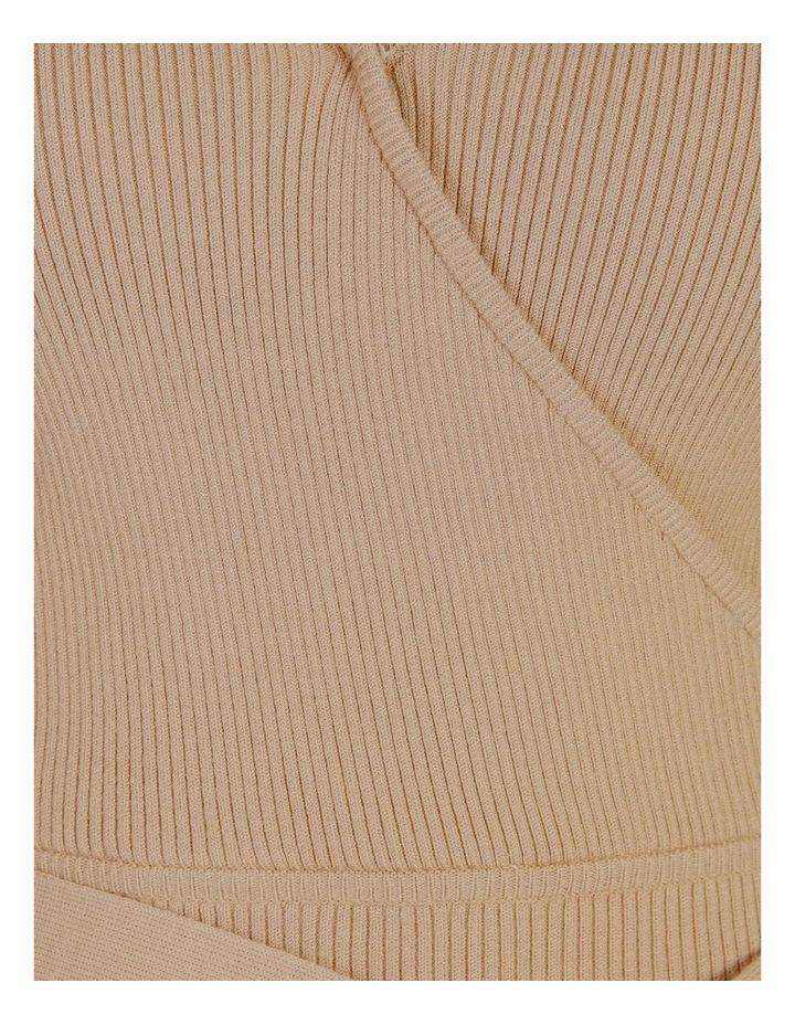 Rib Wrap Short Sleeve Knit image 6