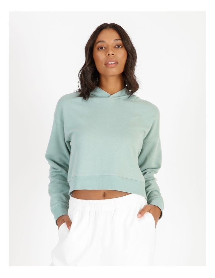 Hooded Cropped Sweat - Mint image 1