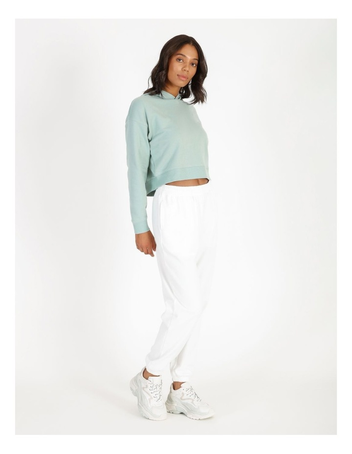 Hooded Cropped Sweat - Mint image 2