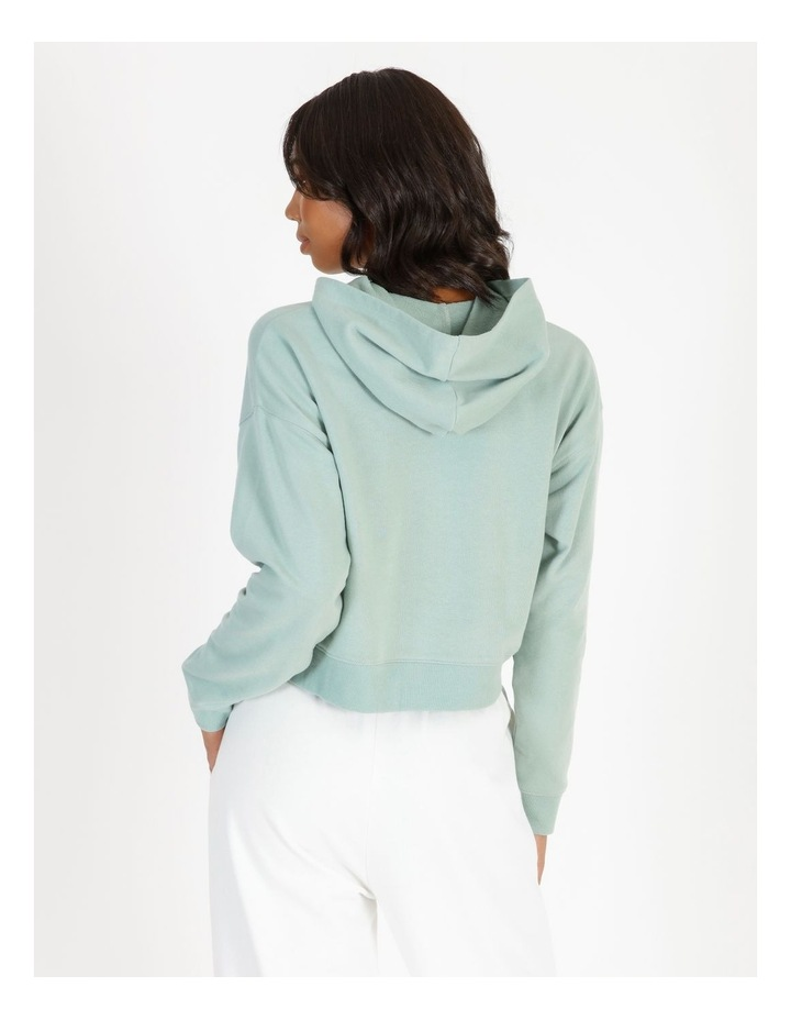 Hooded Cropped Sweat - Mint image 3